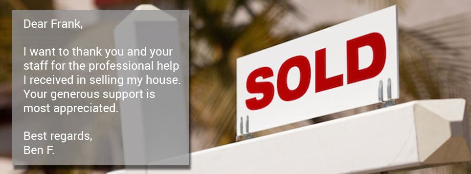 Testimonial for sold house